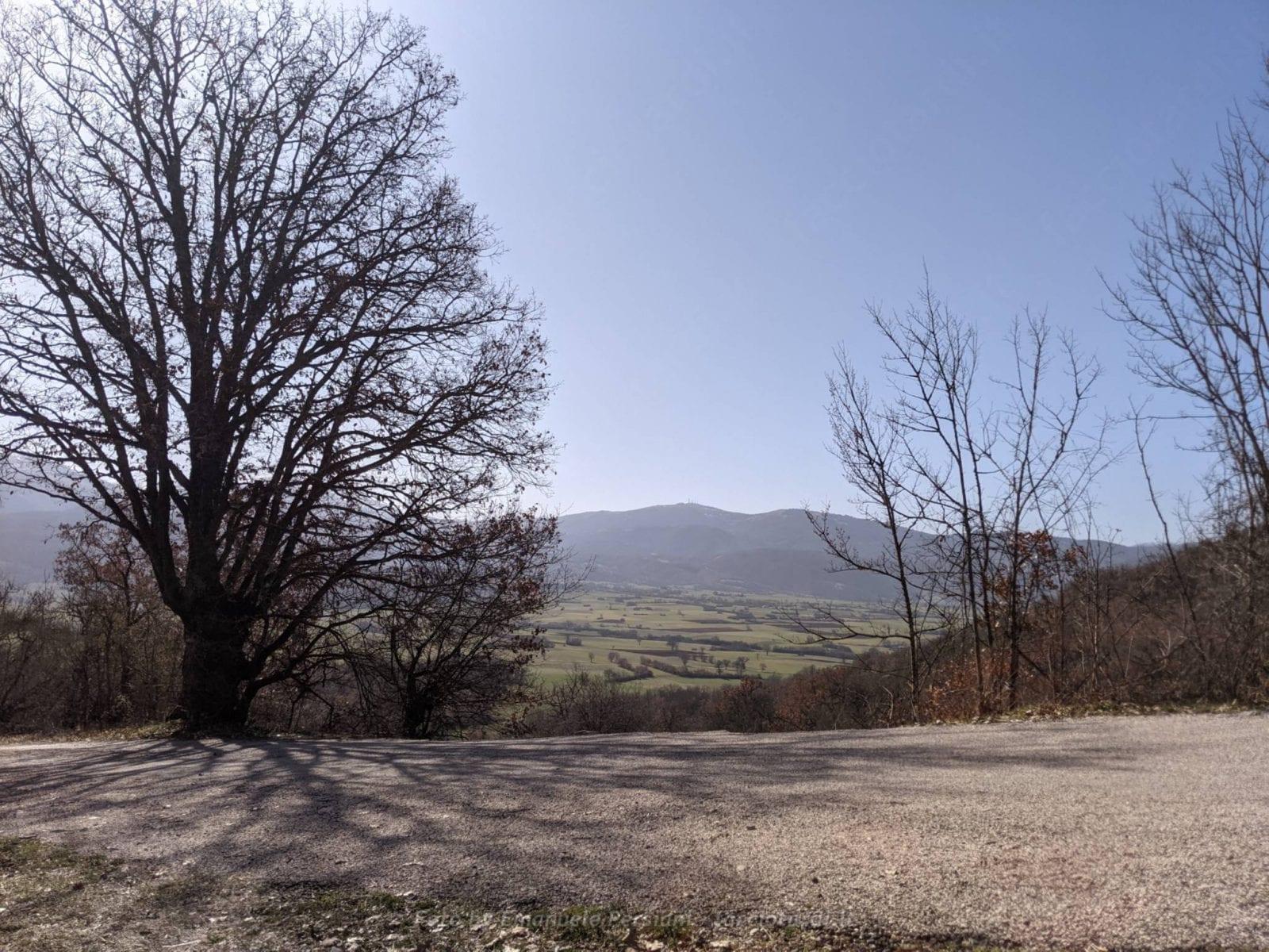 Passeggiata ad anello Valle di Santa Scolastica vicino San Pellegrino